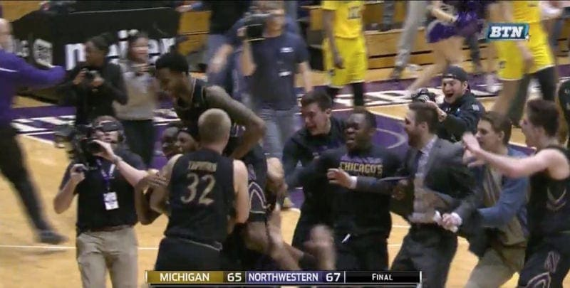 northwestern beats michigan