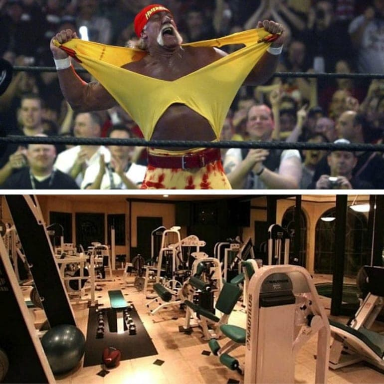 A look inside some of the most over the top celebrity home gyms