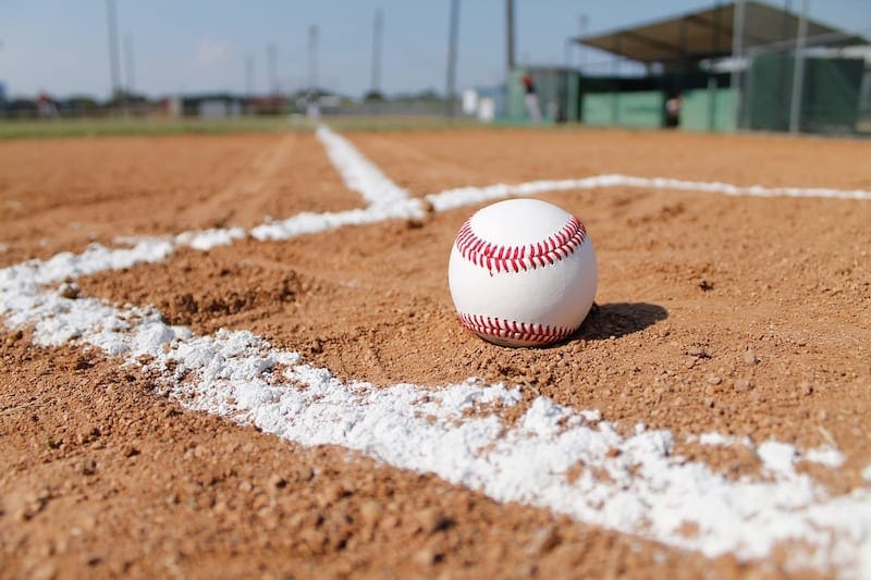 baseball in the dirt