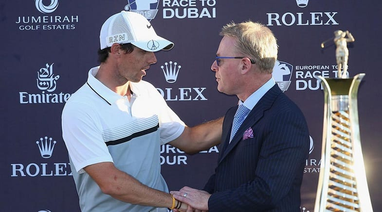 Keith Pelley and McIlroy