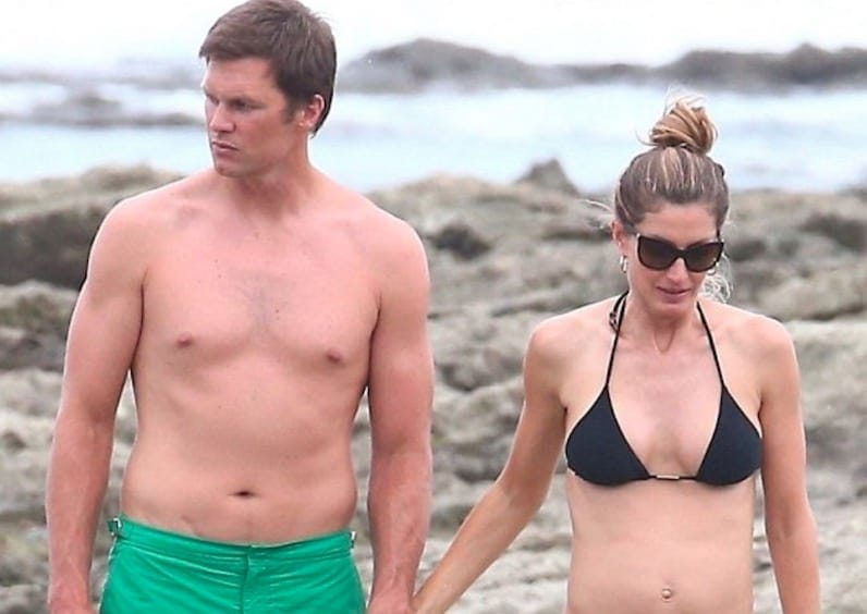 Social media reacts after photos of Tom Brady on vacation go