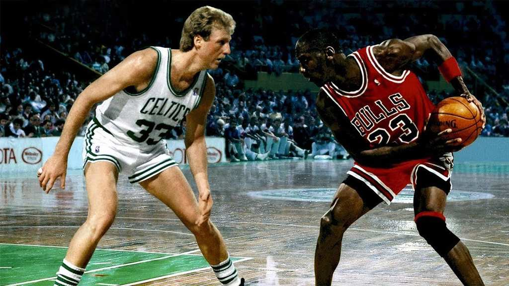 Michael Jordan 48 PTS vs Larry BIRD 37 PTS Big DUEL in ...