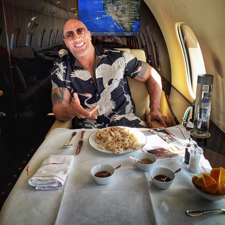 Here S All The Food The Rock Eats In A Single Day Sports